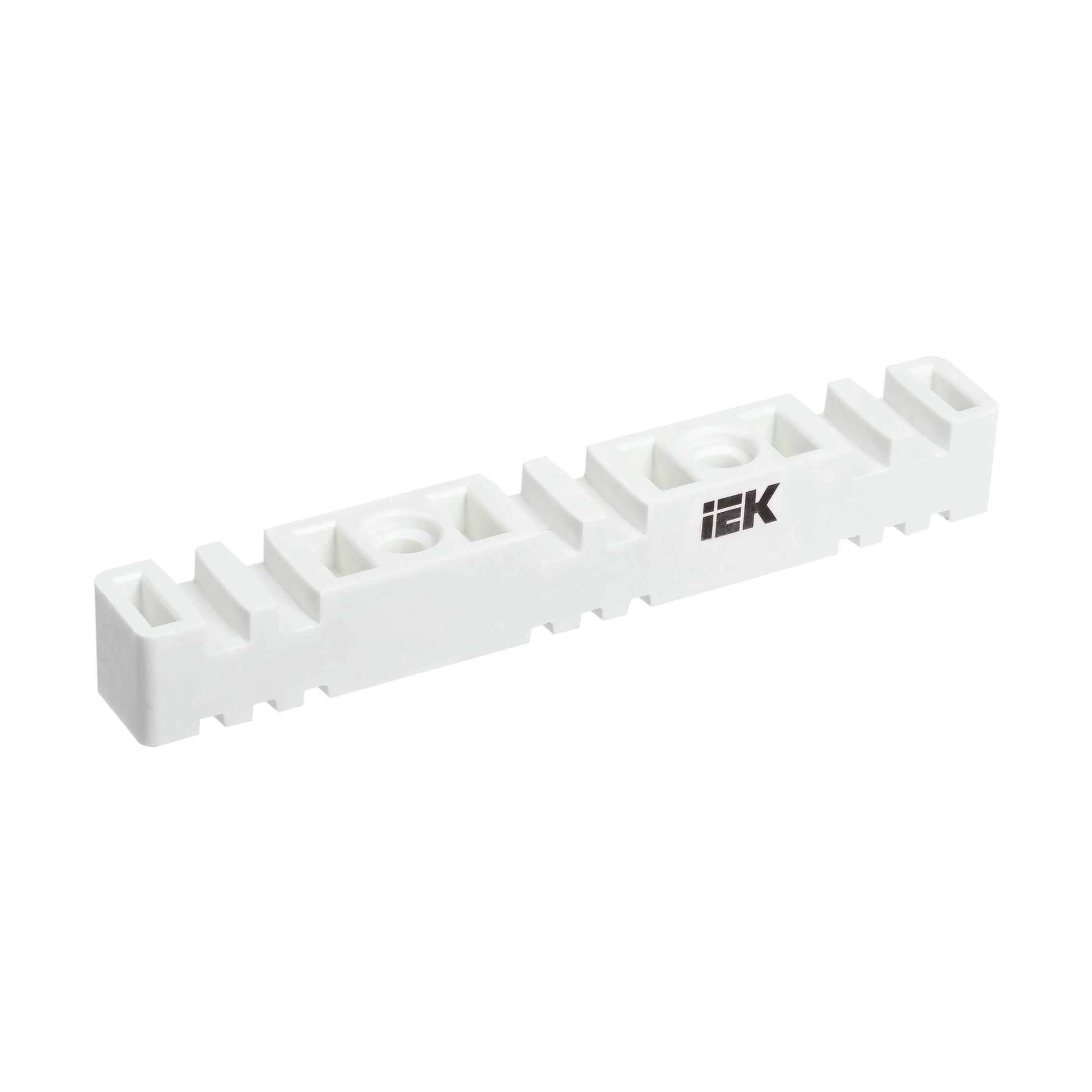 Изолятор шинный плоский ИШП 3P для шин 5мм и 10мм 270мм IEK
