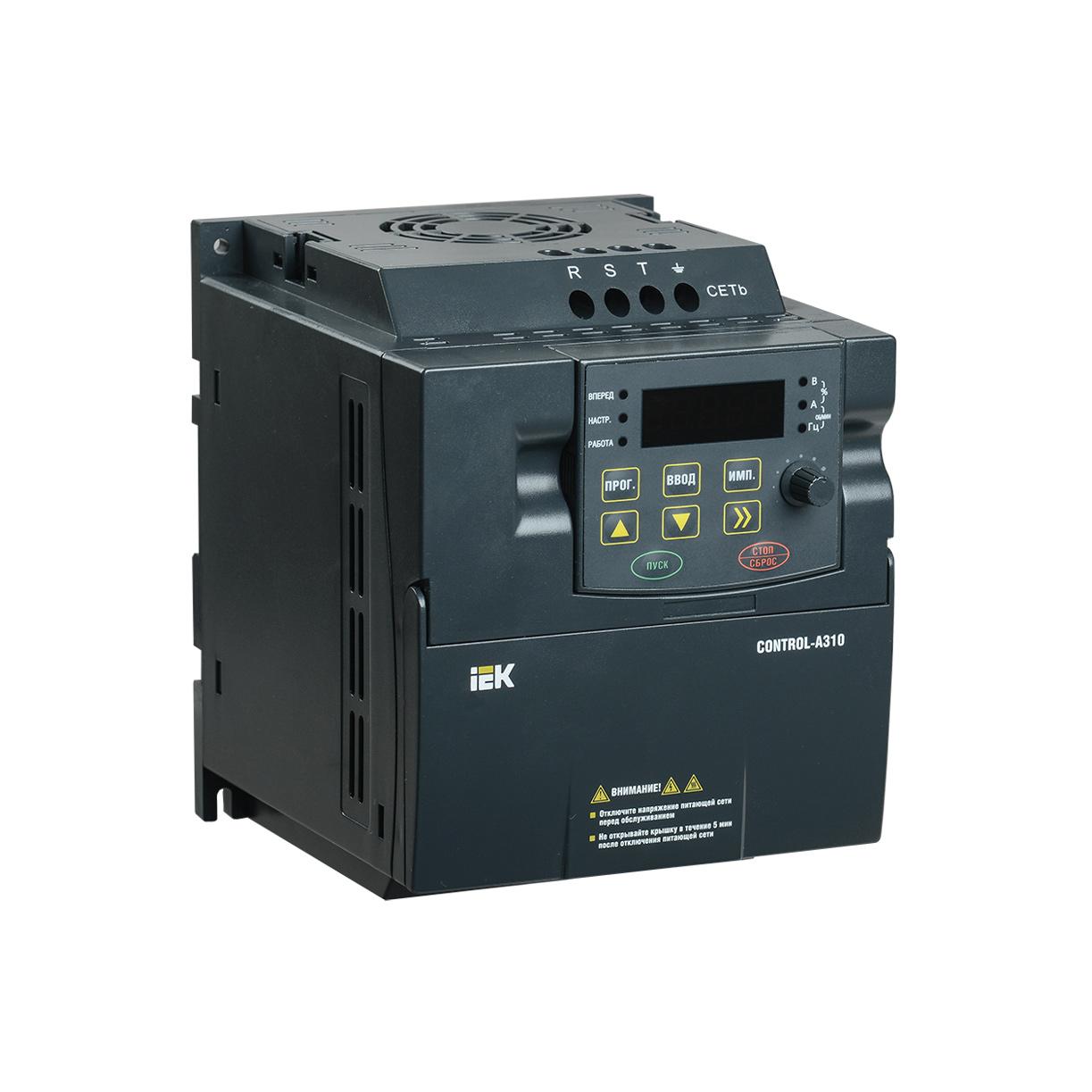 Преобразователь частоты CONTROL-A310 380В 3Ф 1,5кВт 3,7A IEK
