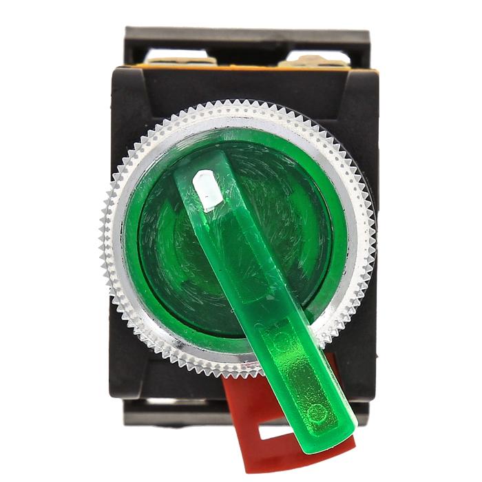 Переключатель ANLC-22 2P зеленый с подсветкой 24В DC NO+NC EKF PROxima