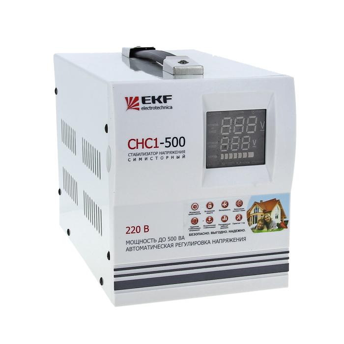 Стабилизатор напряжения СНС1-500ВА симисторный EKF Simple