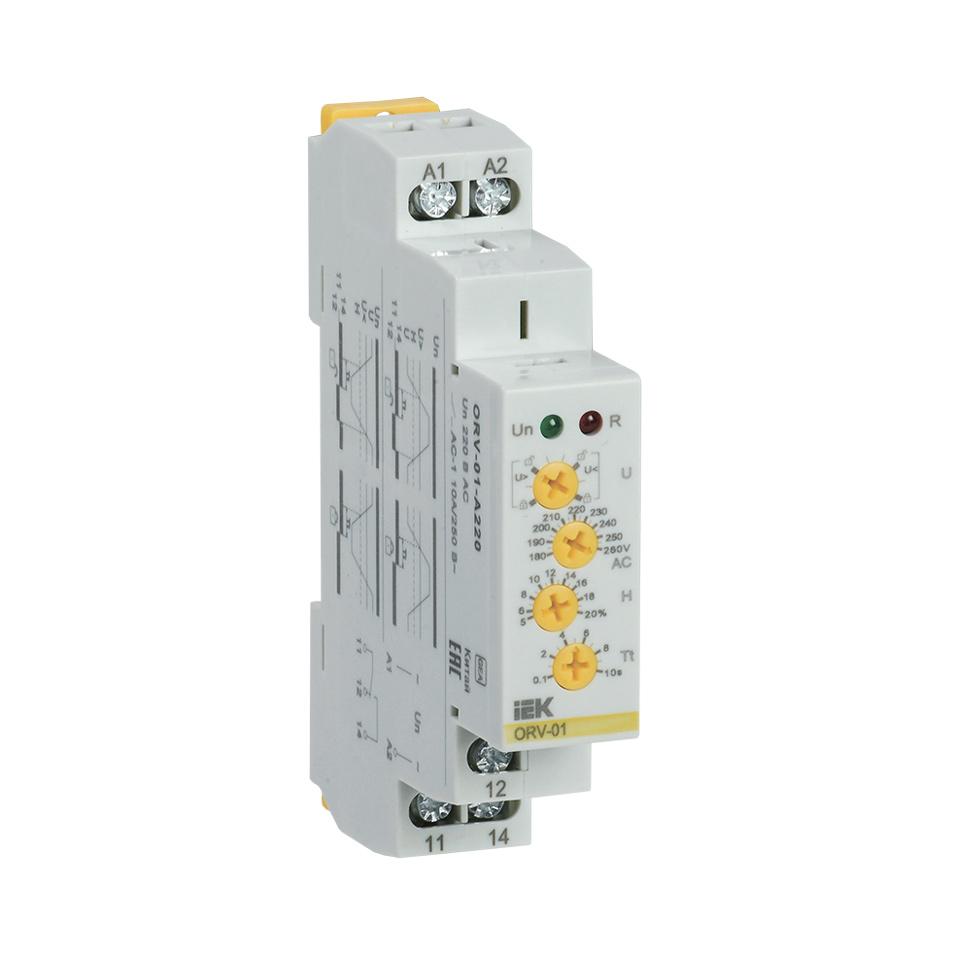Реле контроля напряжения ORV 1 фаза 220В AC IEK