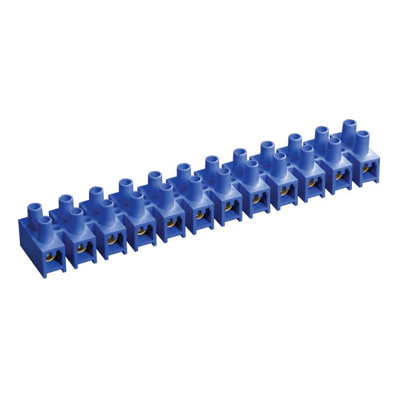 Зажим контактный винтовой ЗВИ-3 н/г 1,0-2,5мм2 синий (2шт/блистер) IEK
