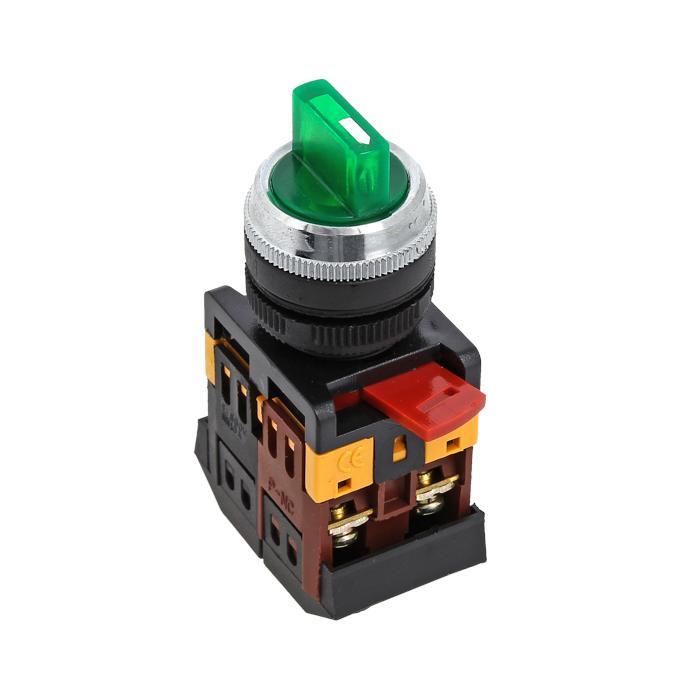 Переключатель ANC-22 3P зеленый с подсветкой 220В NO+NC EKF PROxima