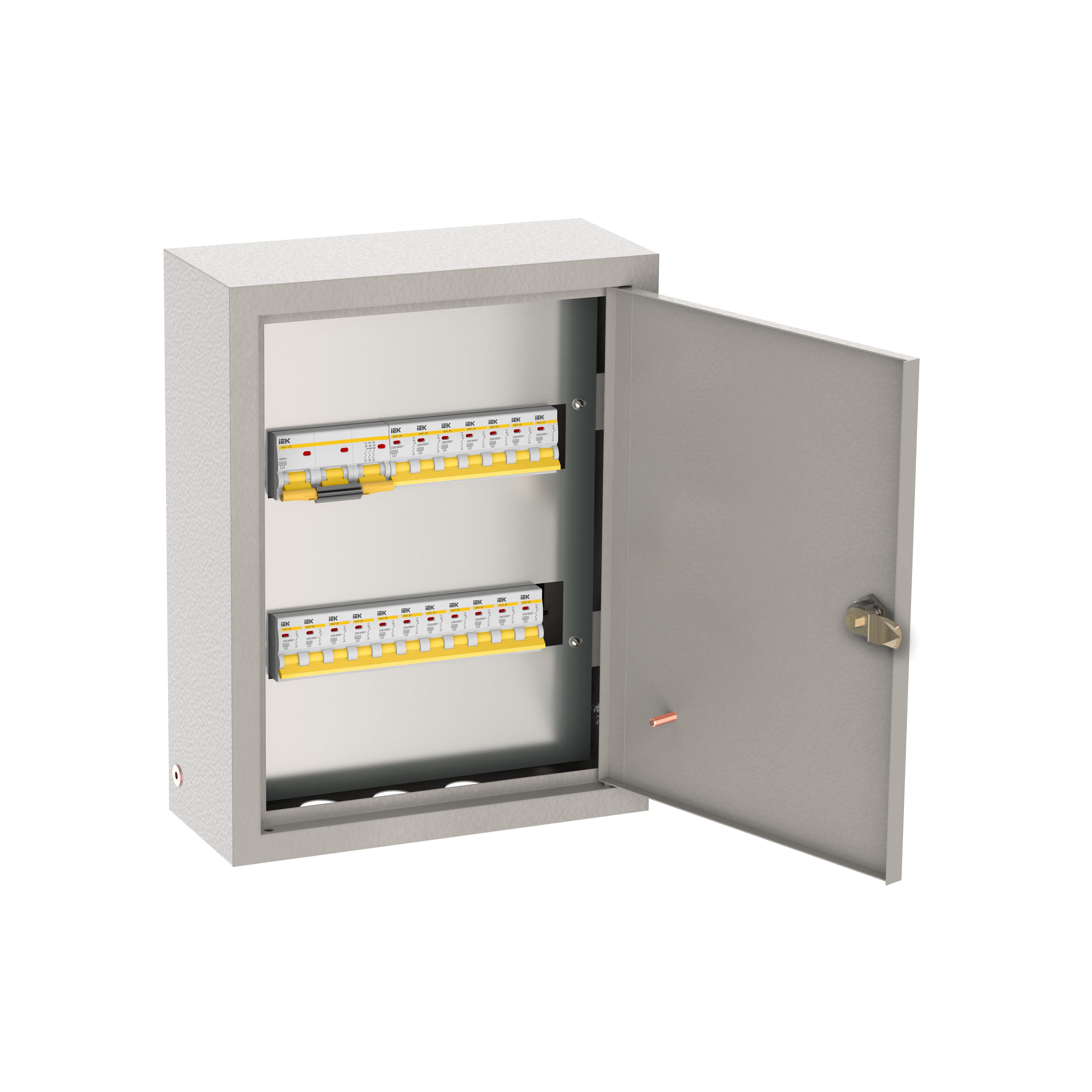 Щиток осветительный ОЩВ навесной с автоматическими выключателями 3p 1х100А 1p 18х16А IEK