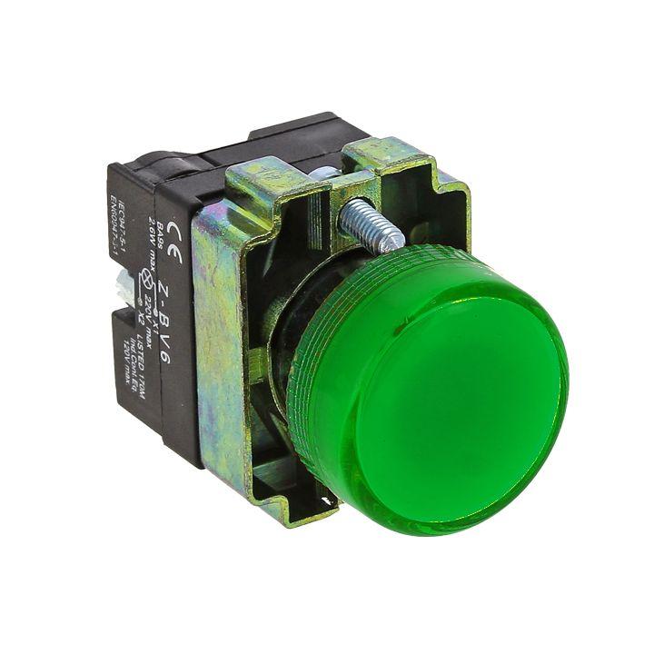 Лампа сигнальная BV63 зеленая EKF 24В EKF PROxima