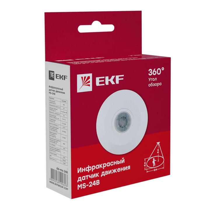 ИК датчик движения потолочный 800Вт 360гр. до 6м IP20 MS-24B EKF
