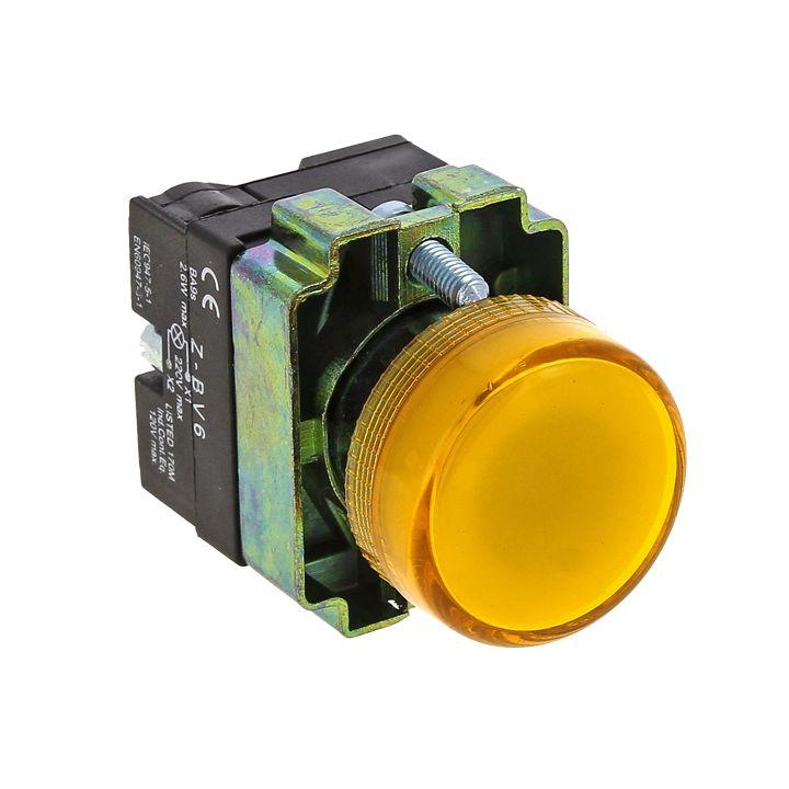 Лампа сигнальная BV65 желтая EKF 24В EKF PROxima