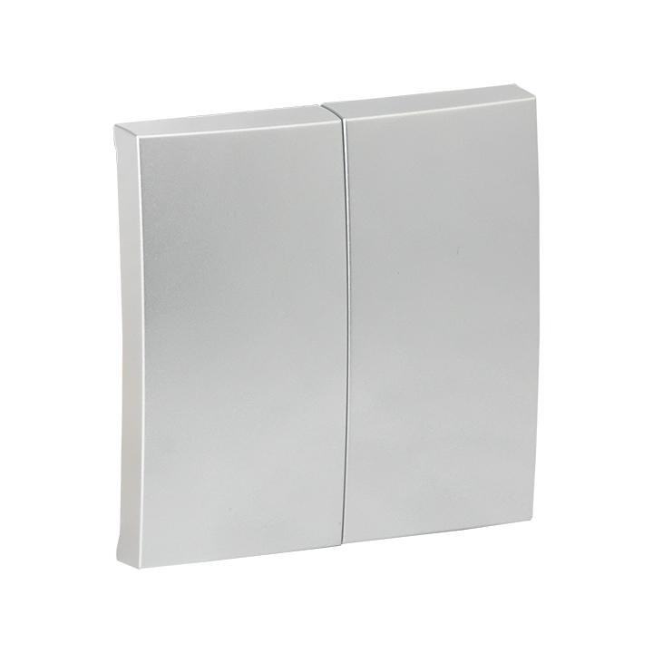 Валенсия лицевая панель выключателя 2-кл. 10А сталь EKF PROxima