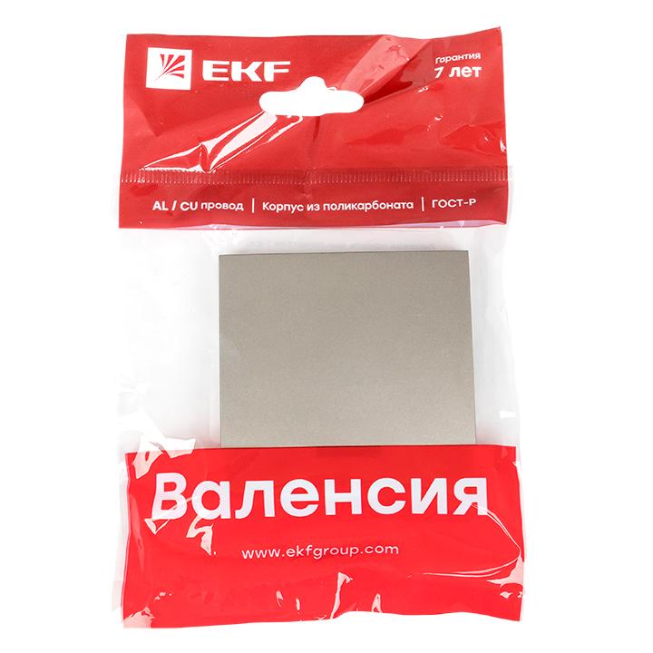 Валенсия лицевая панель выключателя 1-кл. с индикатором 10А кашемир EKF PROxima