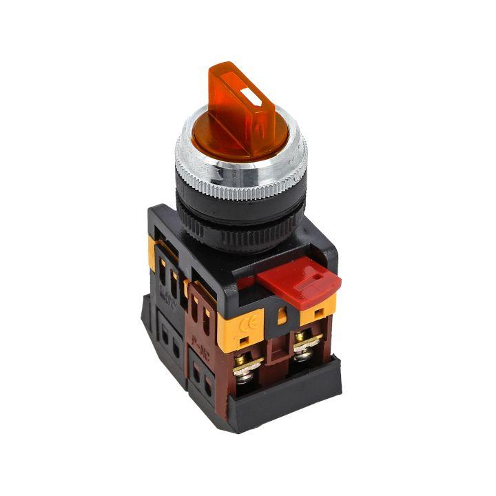 Переключатель ANC-22 2P красный с подсветкой 24В NO+NC EKF PROxima