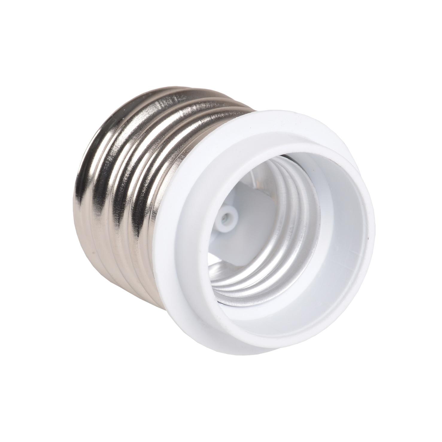 Переходник Е40-Е27 ПР40-27-К02 пластик белый (индивидуальный пакет) IEK