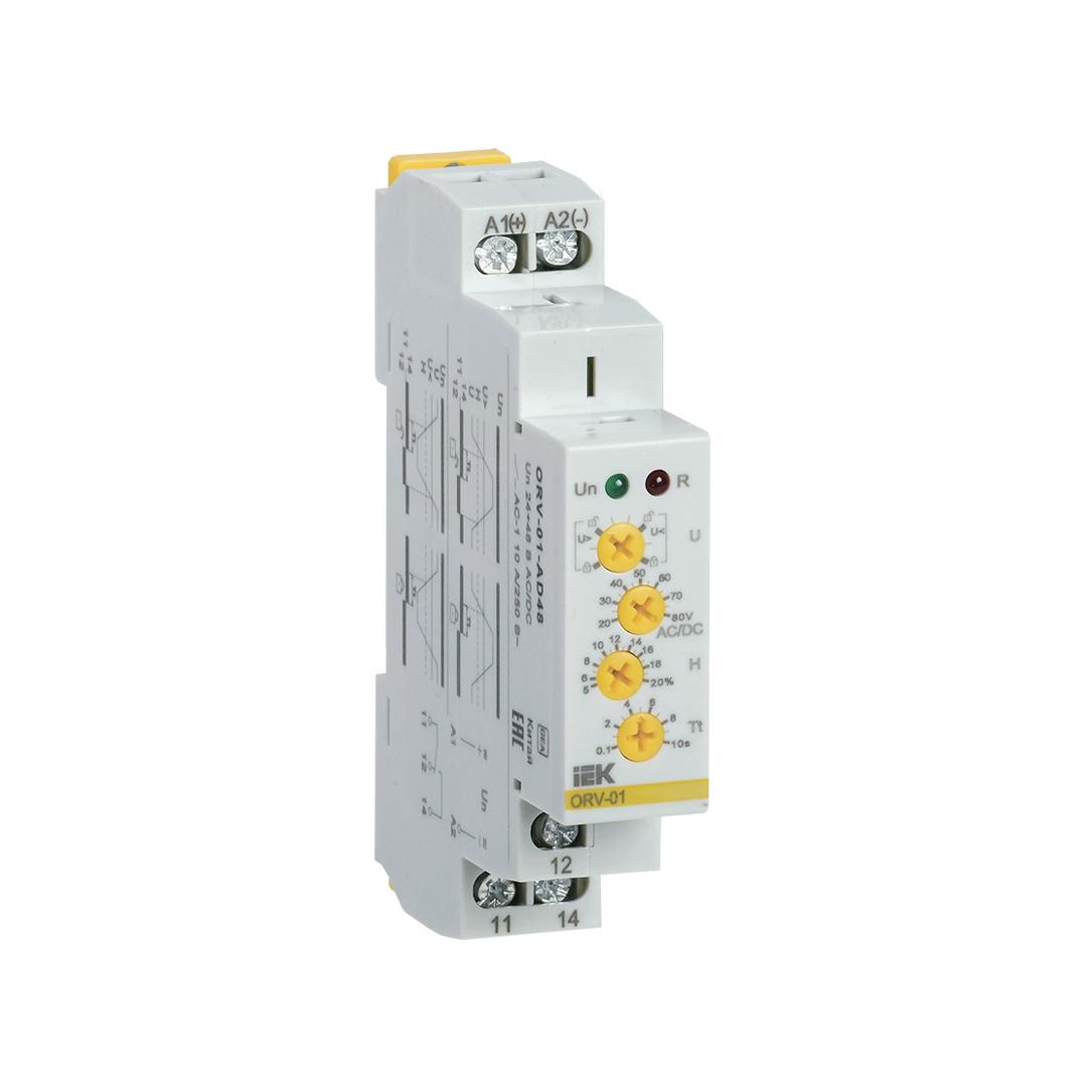 Реле контроля напряжения ORV 1 фаза 24-48В AC/DC IEK