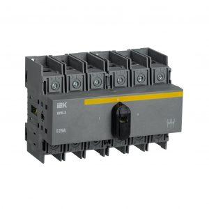 Выключатель-разъединитель модульный ВРМ-3 3P 125А IEK