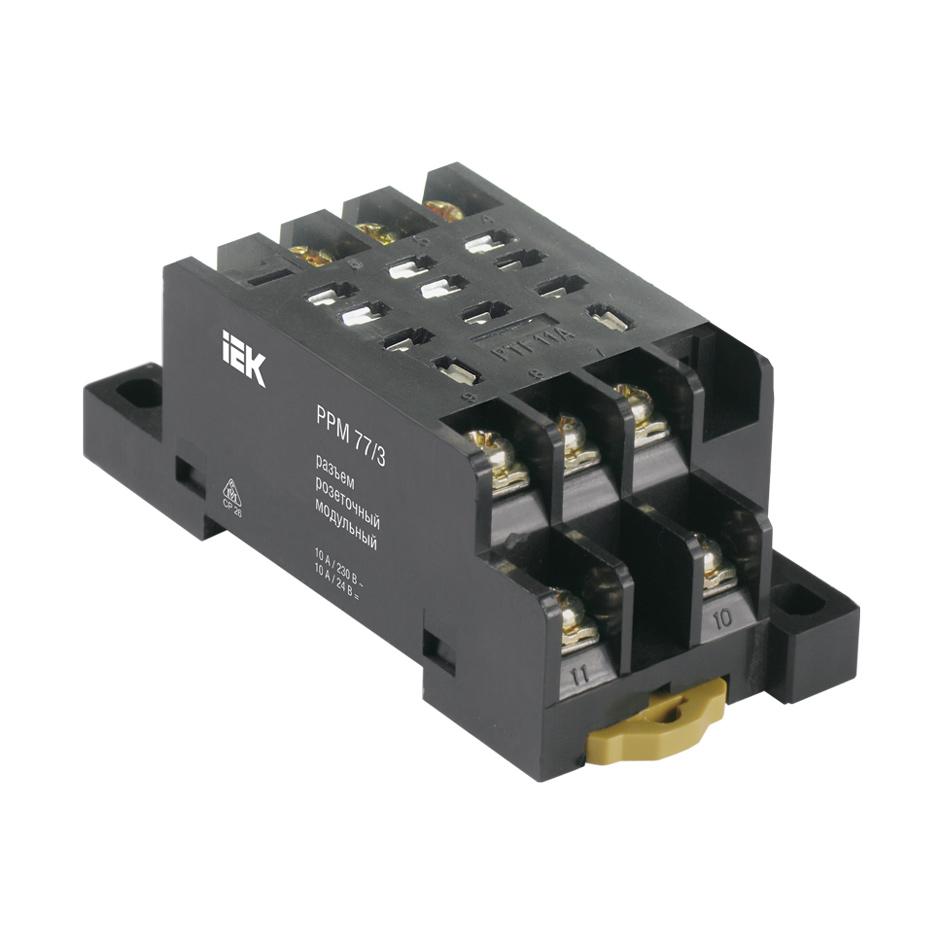 Разъем розеточный модульный РРМ78/4(PYF14A) для РЭК78/4(MY4) IEK